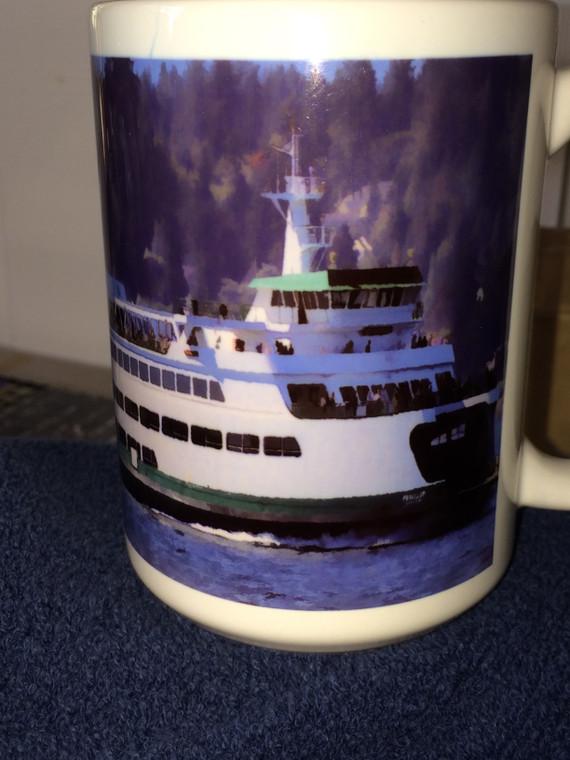 Ferry Puyallup  Large Coffee Mug 15 Oz