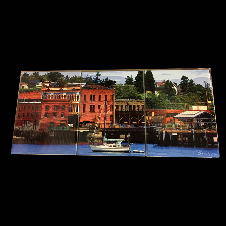 Port Townsend Waterfront Tile Mosaic - 3 - 6 x 8 in Tiles (8 in x 18 in)
