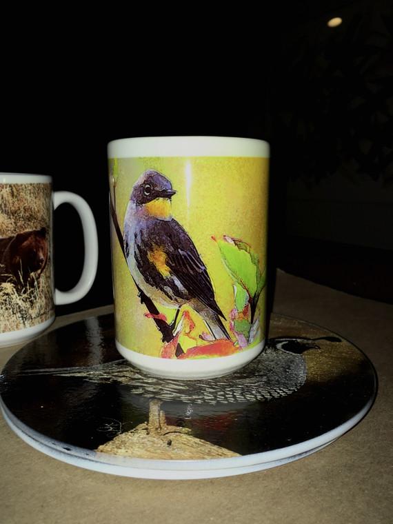 Yellow Rumped Warbler Large Coffee Mug 15 Oz