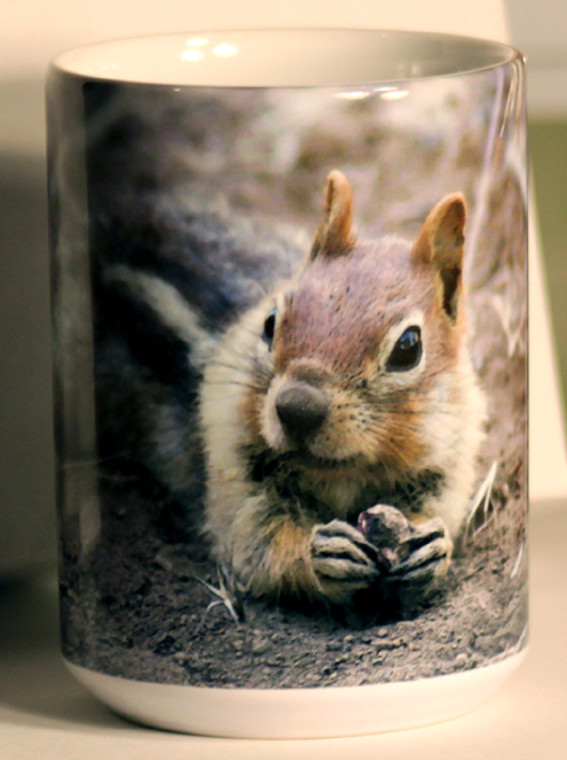 Golden-mantled Ground Squirrel Large Coffee Mug 15 Oz