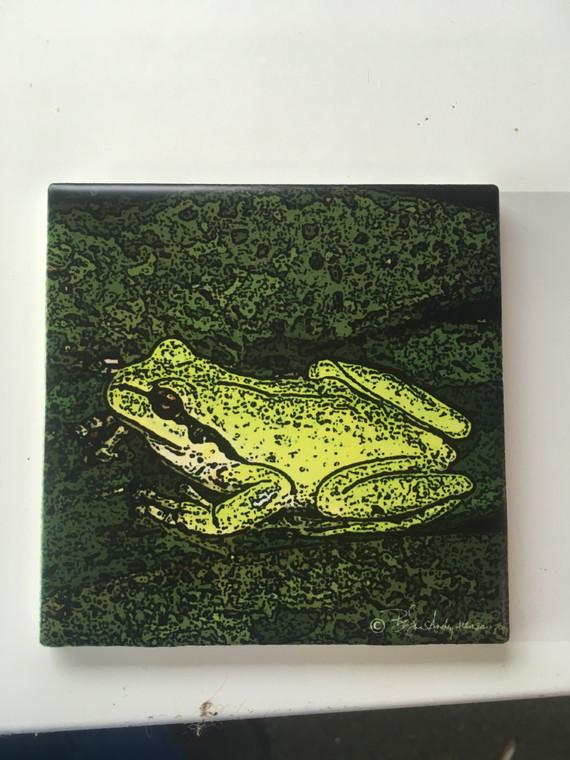 Ceramic Tile or Coaster - Froggy 4.25 In x 4.25 In