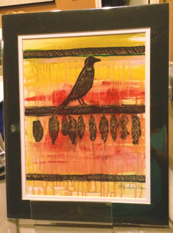 Crow Blanket - Matted Print 11 x 14