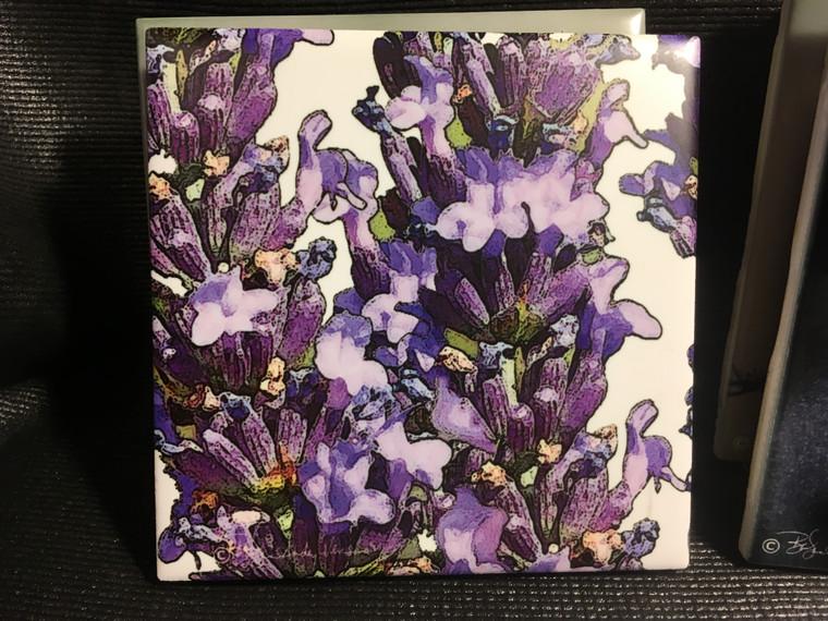 Ceramic Tile - Lavender  4.25 In x 4.25 In