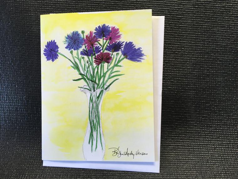 10 Morning Vase  Blank Note Cards