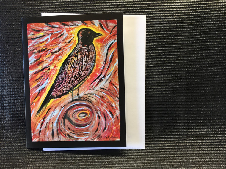 10 Crow Power Blank Note Cards