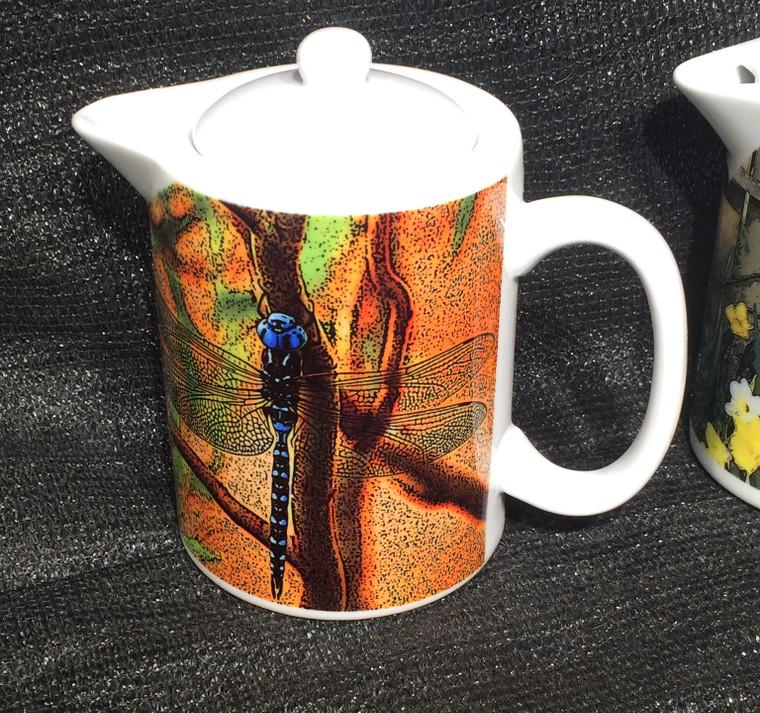 Blue Dragonfly: Teapot - Creamer - Gravy Pitcher