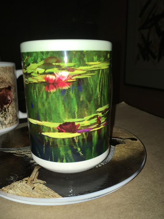 Pondscape Art Large Coffee Mug 15 oz