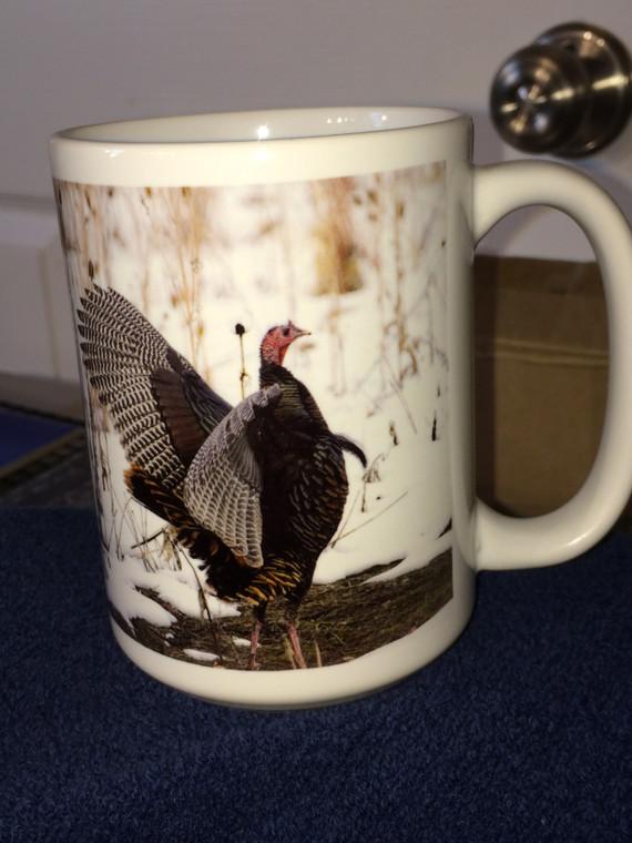 Wild Turkey Large Coffee Mug 15 Oz