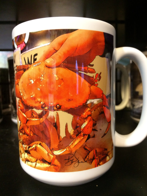 Dungeness Crab Large Coffee Mug 15 Oz