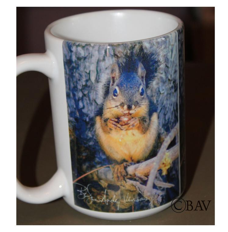 Douglas Squirrel Large Coffee Mug 15 Oz