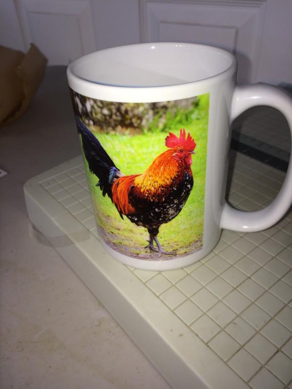 Banty Rooster Mug Large 15 Oz