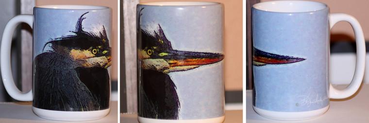 Heron Large Coffee Mug 15 Oz