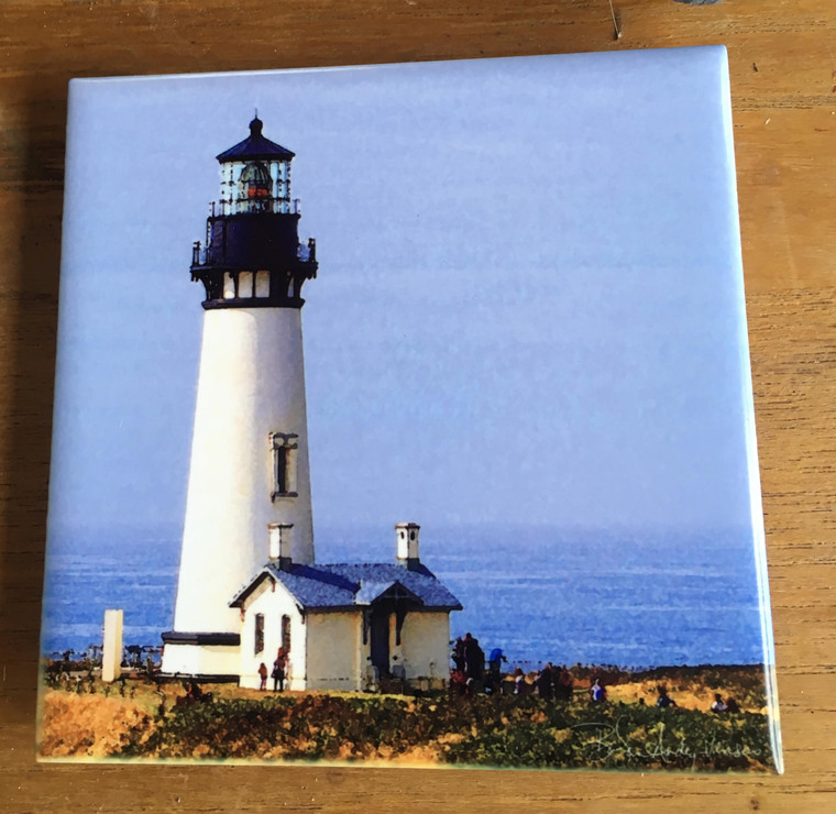 Ceramic Tile - Yaquina Lighthouse 4.25 in x 4.25 in