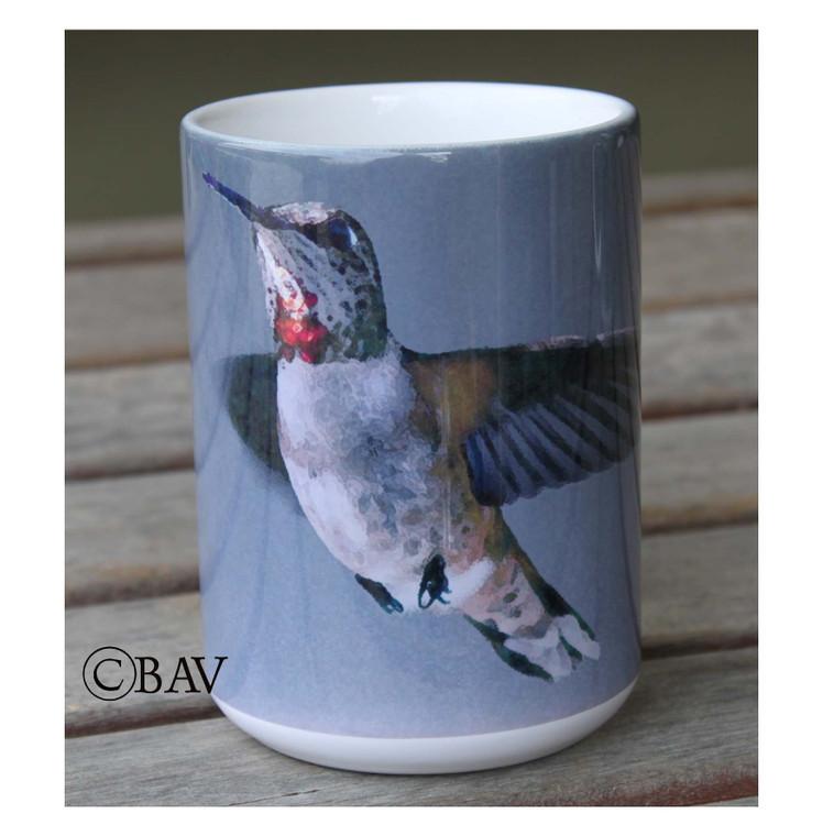 Rufous Hummingbird Large Coffee Mug 15 Oz