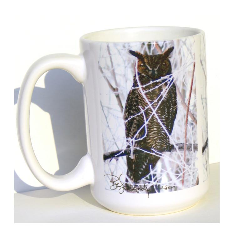 Owl Mug - Great Horned Owl - 15 oz Large Coffee Mug