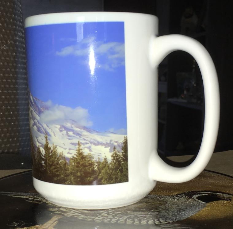Mount Rainier Large Coffee Mug 15 Oz