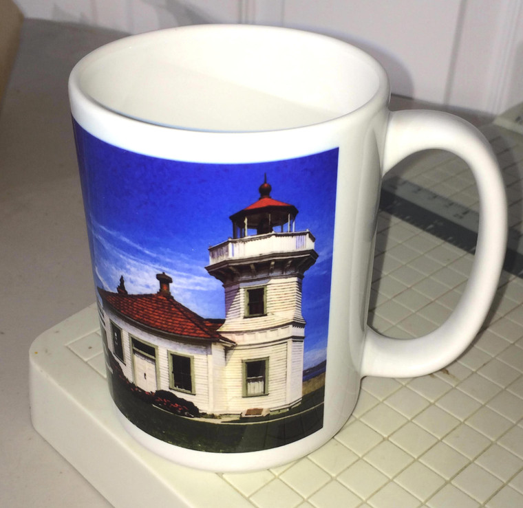 Mukilteo Lighthouse Large Coffee Mug 15 Oz