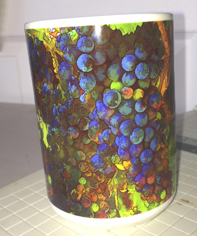 Grape Vine  Large Coffee Mug 15 Oz