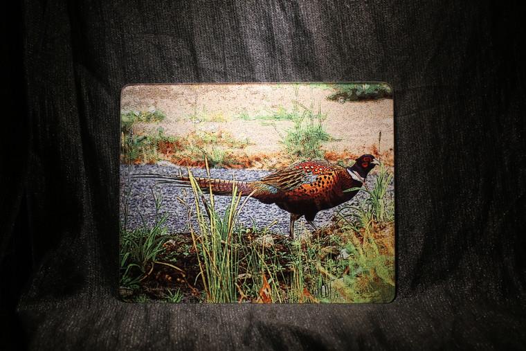 Pheasant Large Glass Cutting Board - 12 in  x 15 in