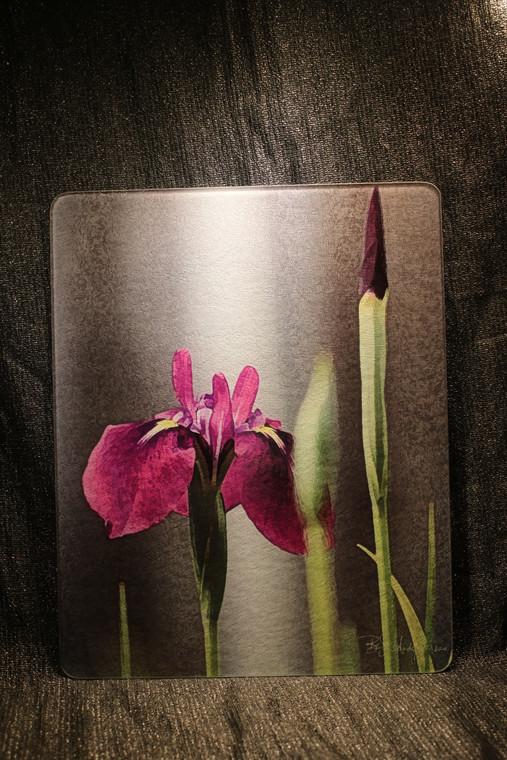 Iris Laevigata Glass Cutting Board Large - 12 in x 15 in