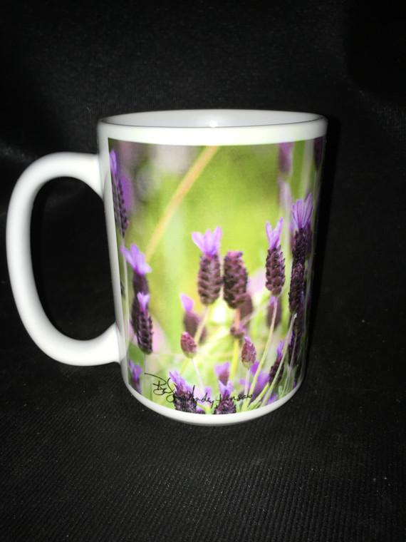 Lavender Large Coffee Mug 15 oz