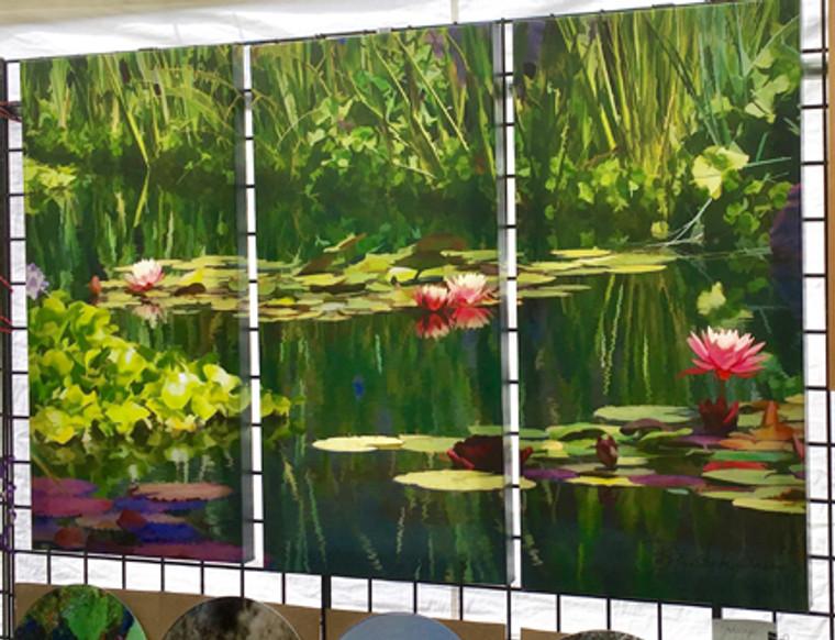 Pondscape Canvas Print - Triptych - 3 - 32 x 16 x 1.5