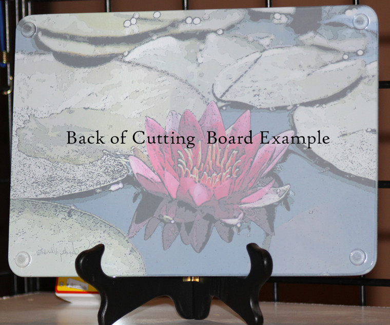 Koi - Large Glass Cutting Board - 12 in x 15 in