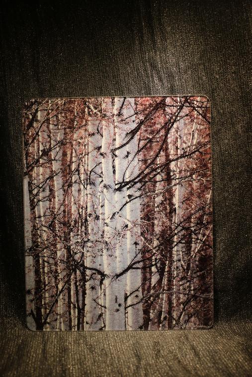 Spring Aspen - Large Glass Cutting Board -  12 in x 15 in