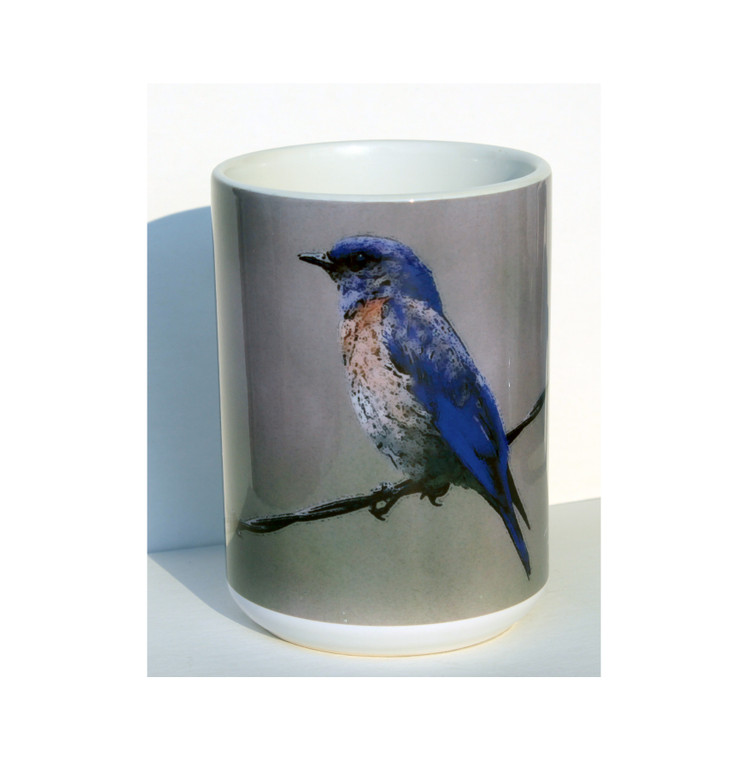 Bluebird Large Coffee Mug 15 Oz
