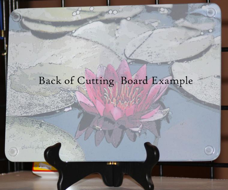 Grape Vine Glass Cutting Board - 7.75 in x 10.75 in