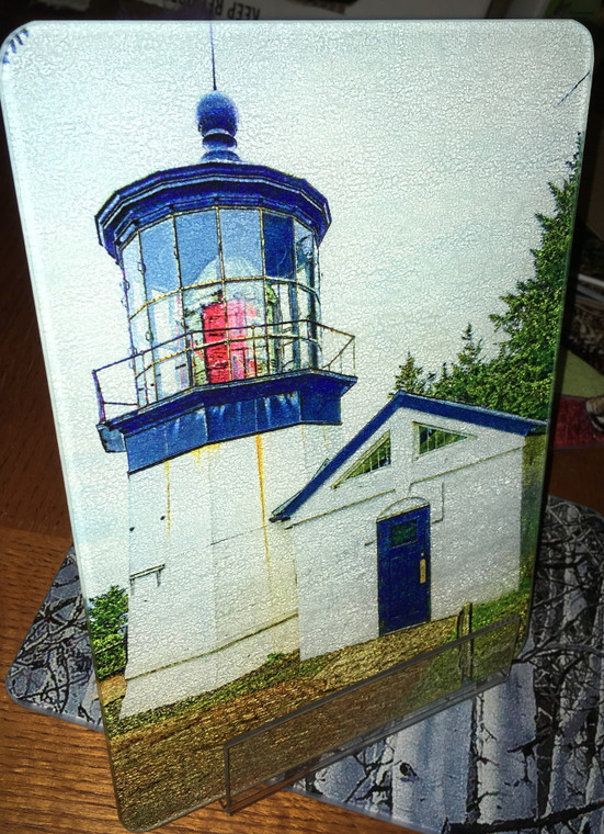 Cape Meares Light Glass Cutting Board 7.75in  x 10.75in
