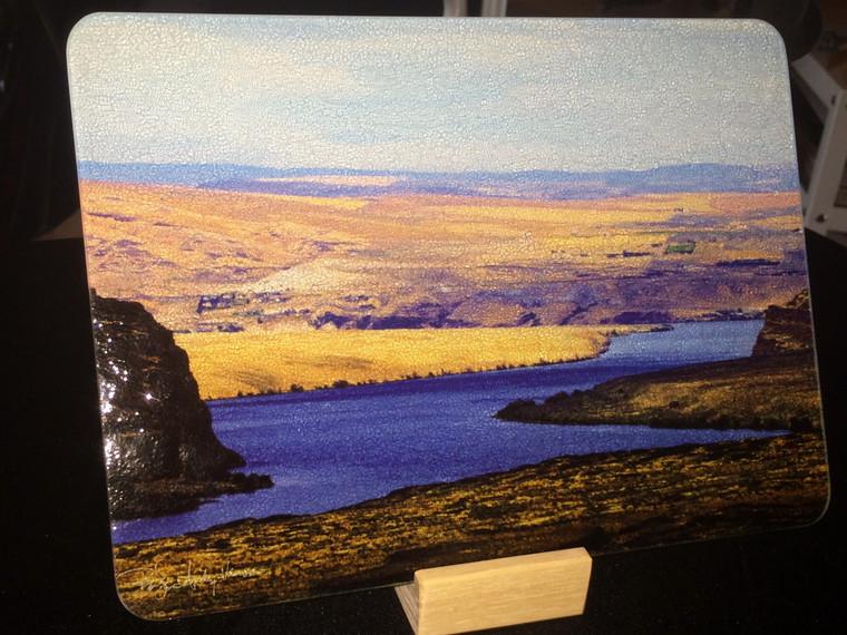 Columbia Gorge Glass Cutting Board  (ver.1) -  7.75 in  x 10.75 in