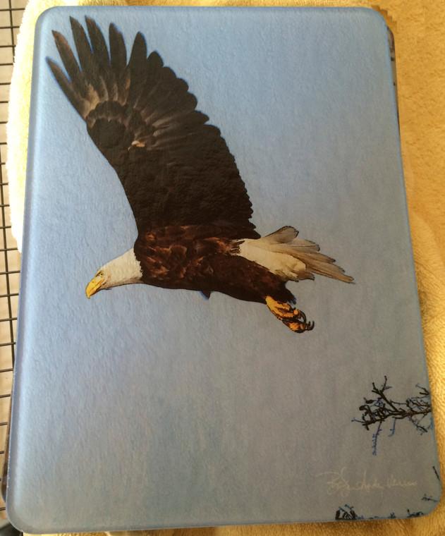 Eagle Glass Cutting Board   7.75in  x 10.75in