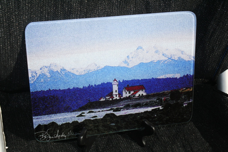 Lighthouse - Port Townsend Glass Cutting Board -7.75in  x 10.75in