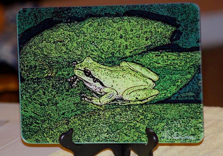Froggy - Glass Cutting Board - 7.75in  x 10.75in