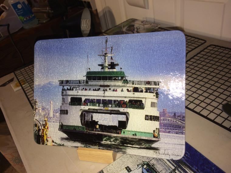 Ferry Tacoma Glass Cutting Board 7.75in  x 10.75in