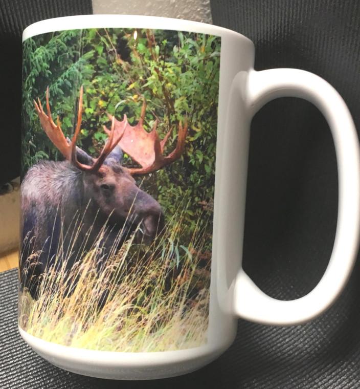 Moose Large Coffee Mug 15 Oz