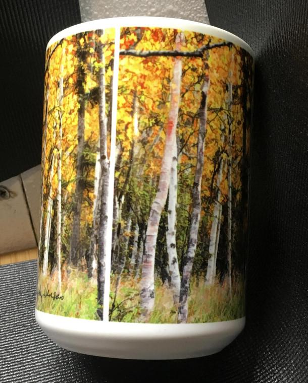 Fall Aspen Large Coffee Mug 15 oz.