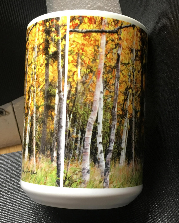 Fall Aspen Large Coffee Mug 15 oz.