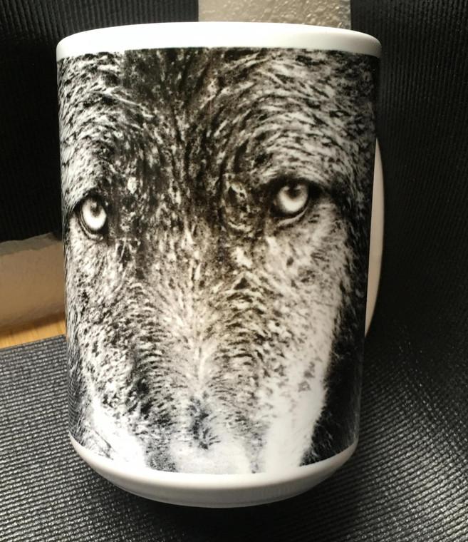 Wolf BW Zoom Large Coffee Mug 15 Oz