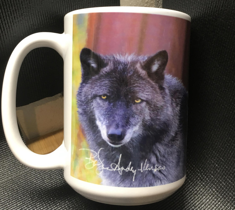 Grey Wolf Large Coffee Mug 15 Oz