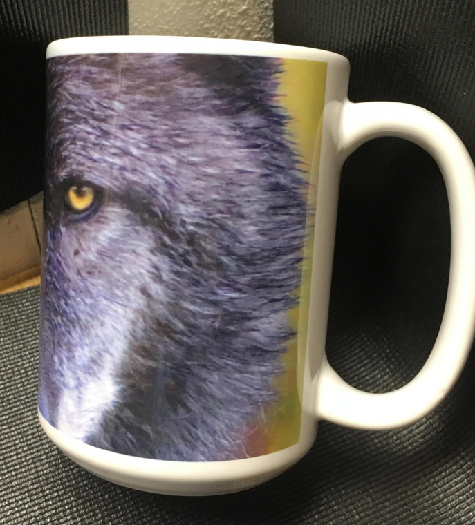 Wolf Face Large Coffee Mug 15 Oz