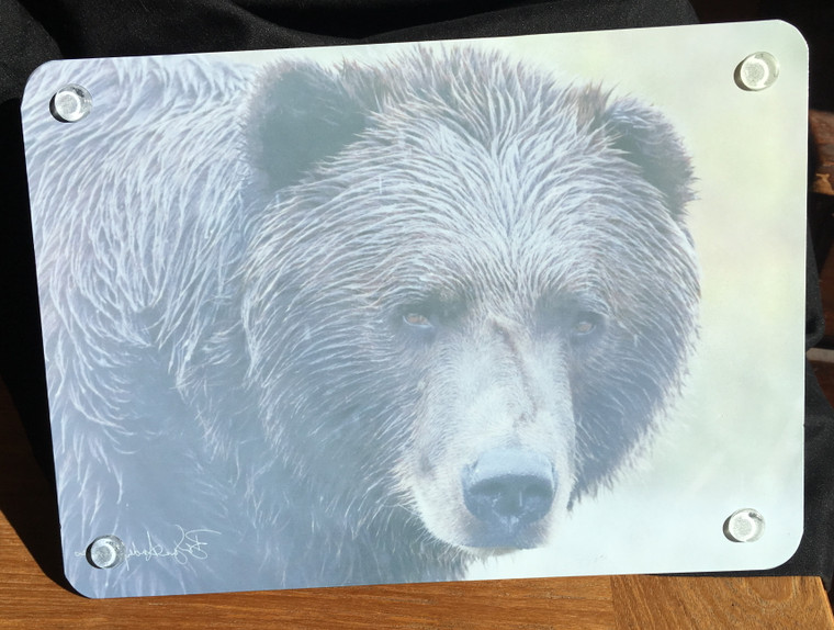 Bear Face Glass Cutting Board -  7.75in x 10.75in