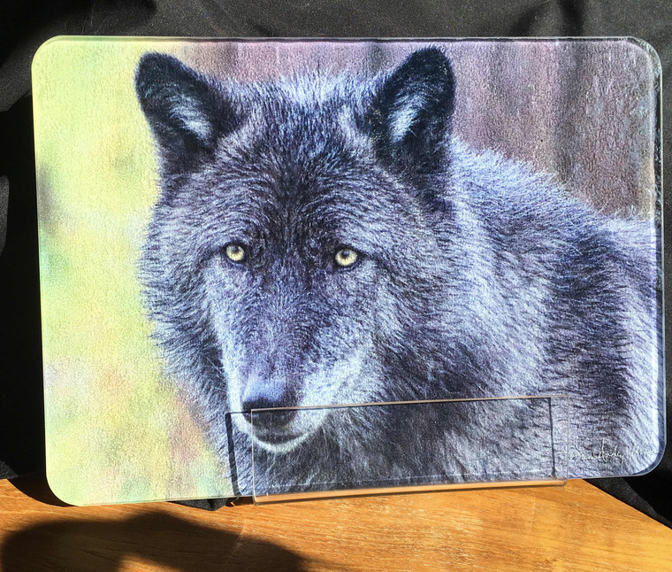Wolf  Glass Cutting Board -  7.75in x 10.75in