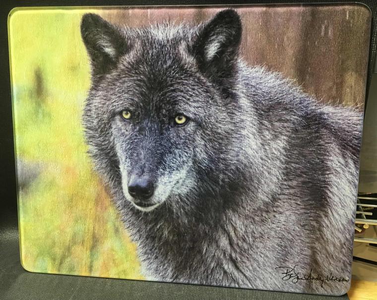 Wolf Large Glass Cutting Board - 12 in x 15 in