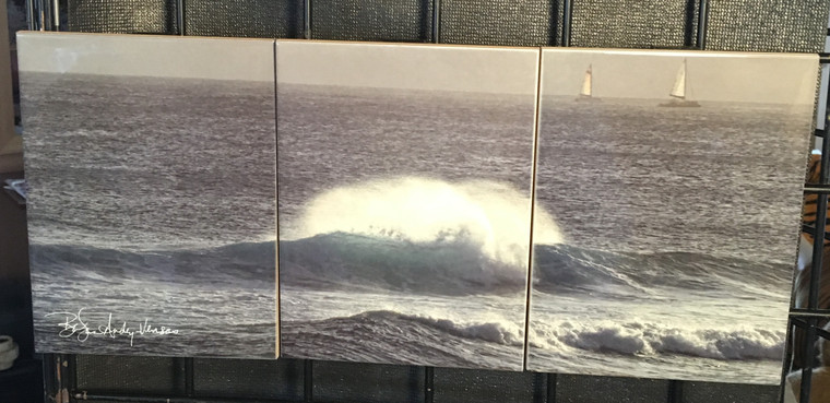 The Wave Tile Mosaic - 3 - 6 x 8 in Tiles (8 in x 18 in)
