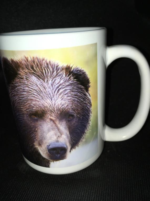 Bear Face Large Coffee Mug 15 Oz