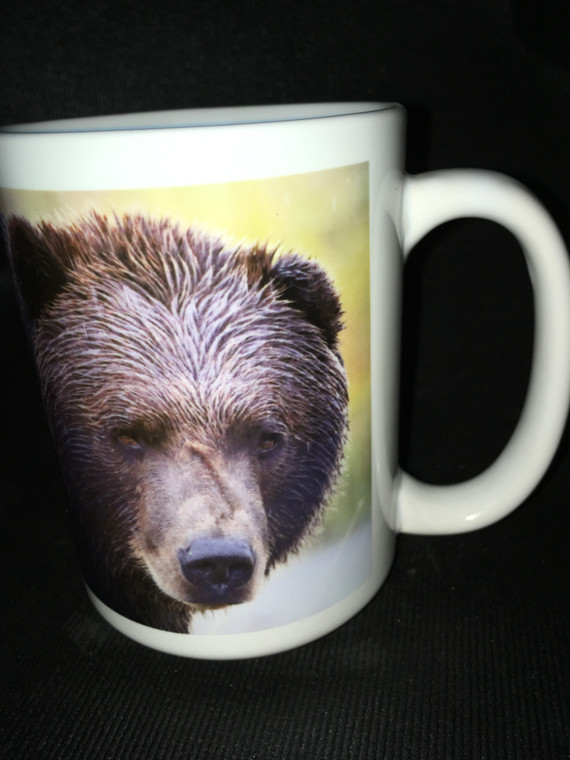 Bear Face Large Coffee Mug 15 Oz