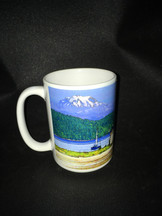 Gig Harbor Large Coffee Mug 15 Oz