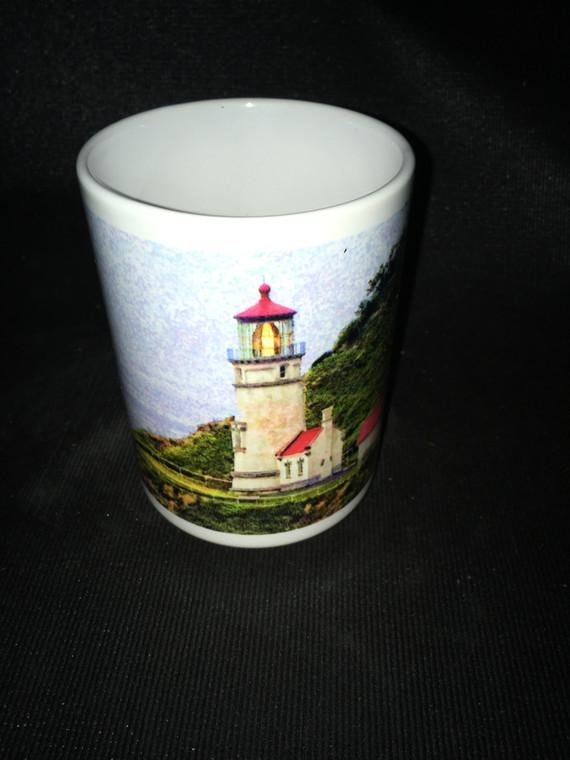Heceta Head Light  Horiz. Large Coffee Mug 15 Oz